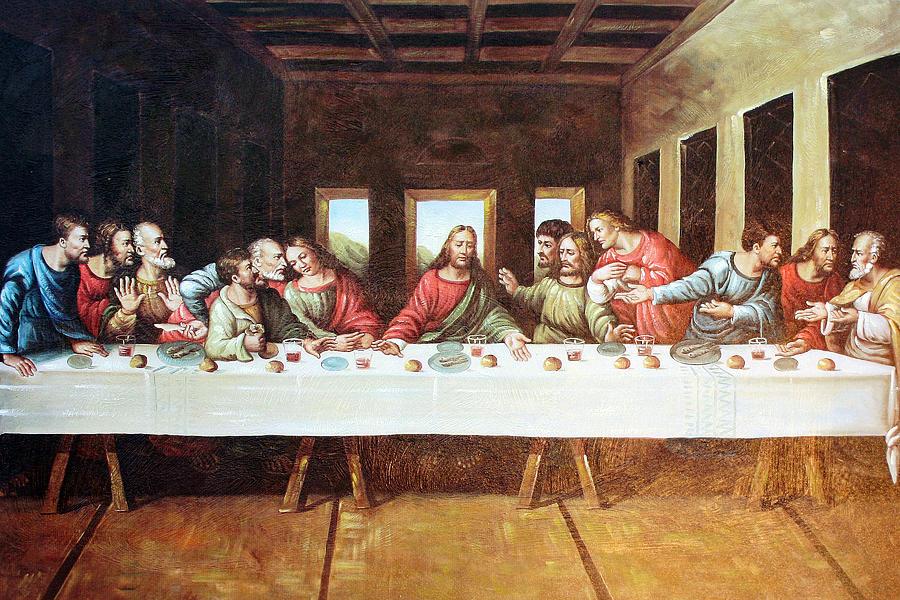 картина тайная вечеря фото стол значит, попасть
