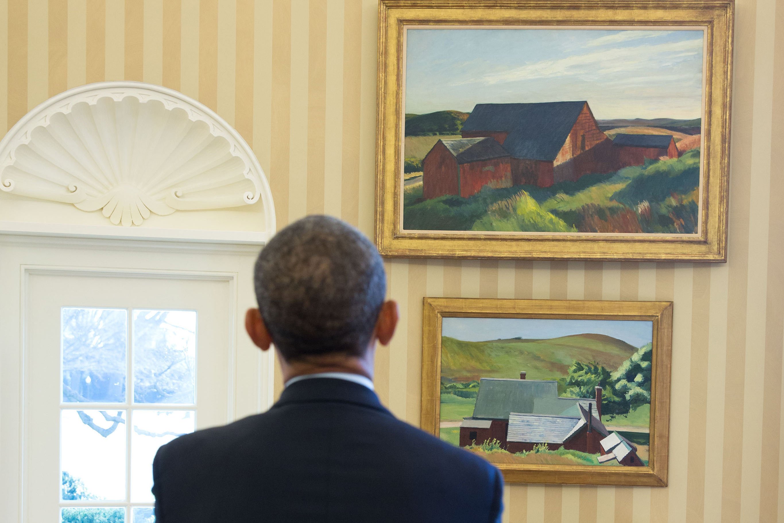 oval office paintings. Whitney Lends Two Paintings To White House, New York Post Oval Office S