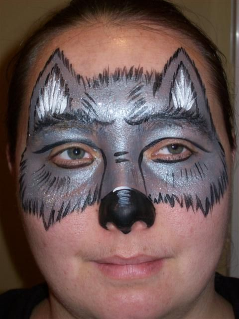Wolf Face Paintings