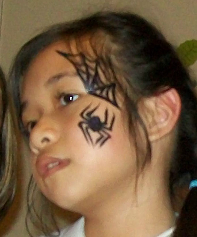 Spider Face Paintings