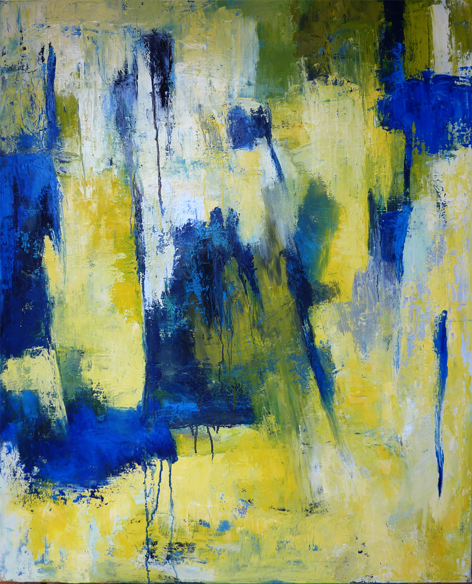Ideal Yellow Abstract paintings HG25