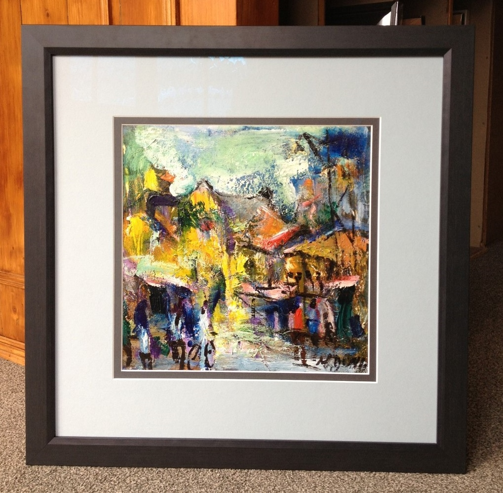 how to frame an acrylic painting