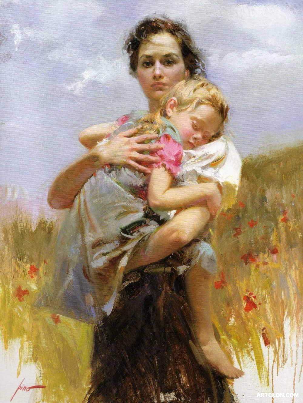 Image%20result%20for%20oil%20painting%20mother%20and%20baby
