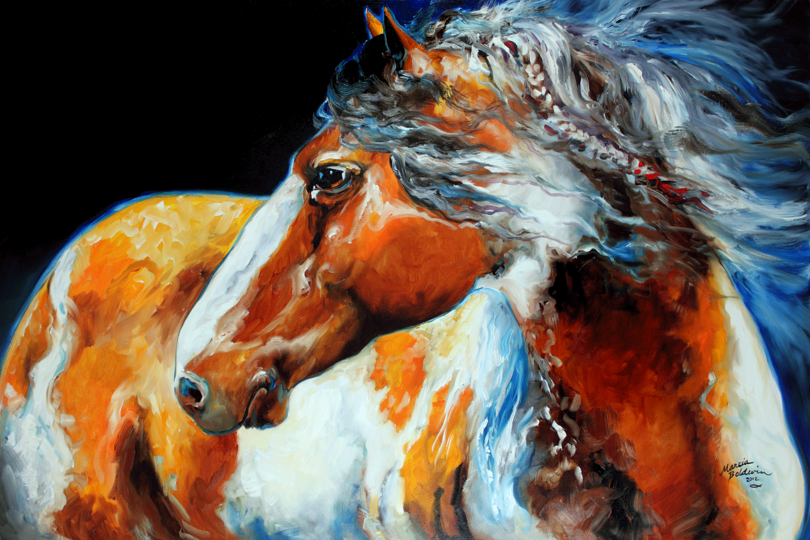 Indian Horse Paintings