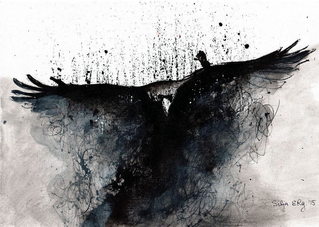 Abstract Ink paintings Modern Gothic Paintings
