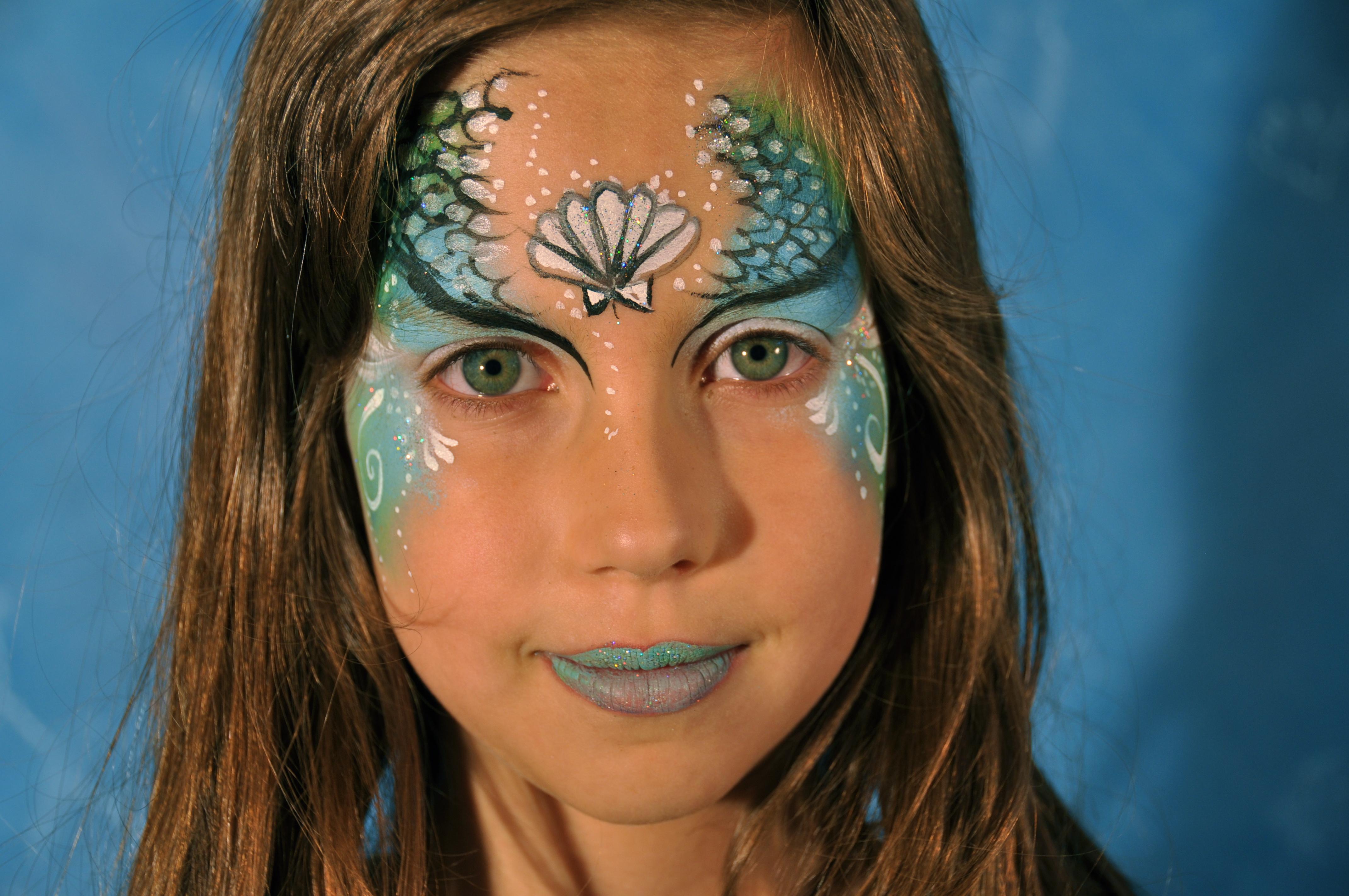 Mermaid Face paintings