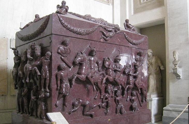 барельефы гробниц пап римских фото