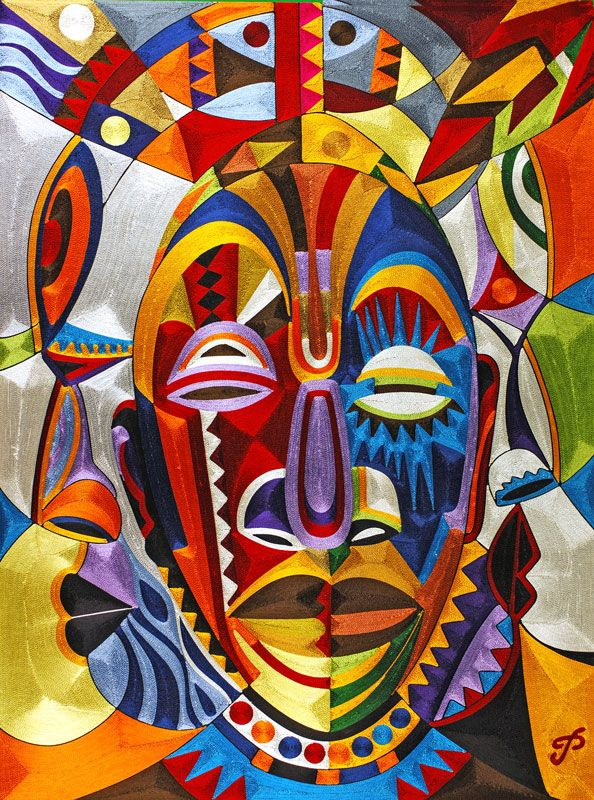 African Mask paintings