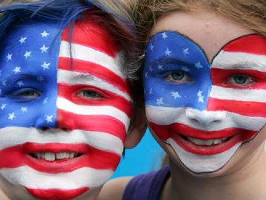 Patriotic Face Paintings