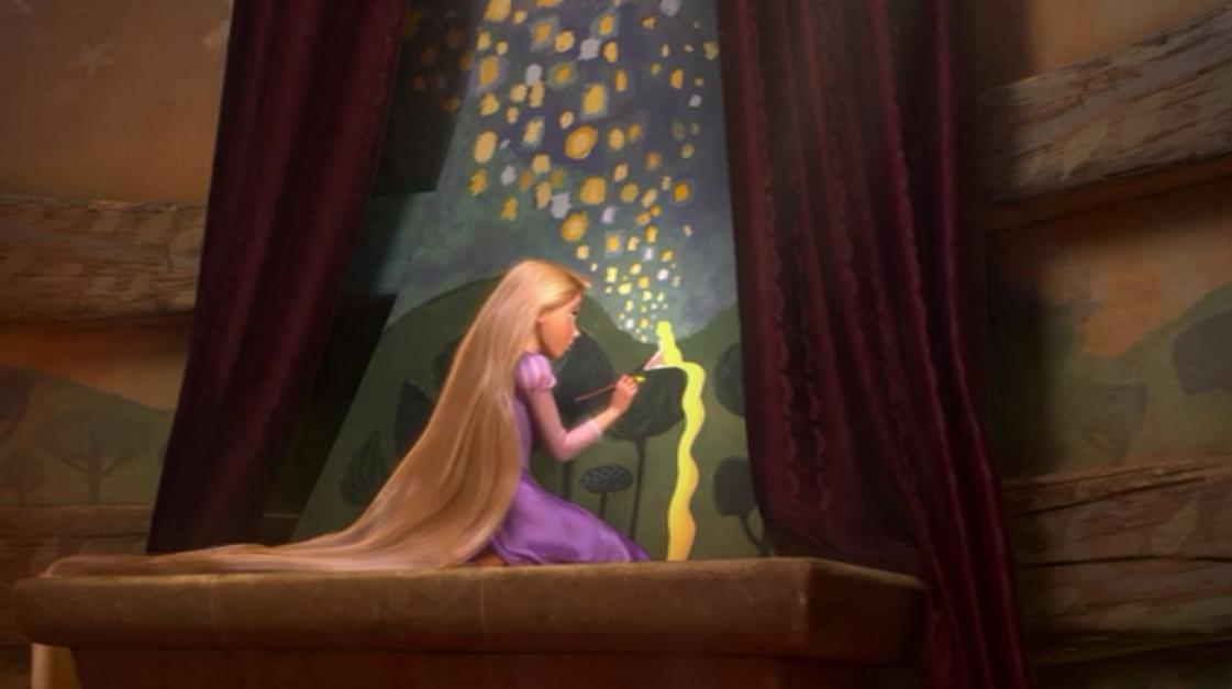 Rapunzel Lantern Paintings