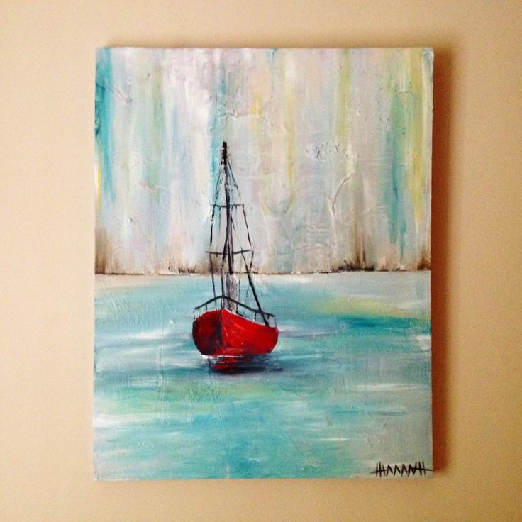 Abstract Sailboat Paintings