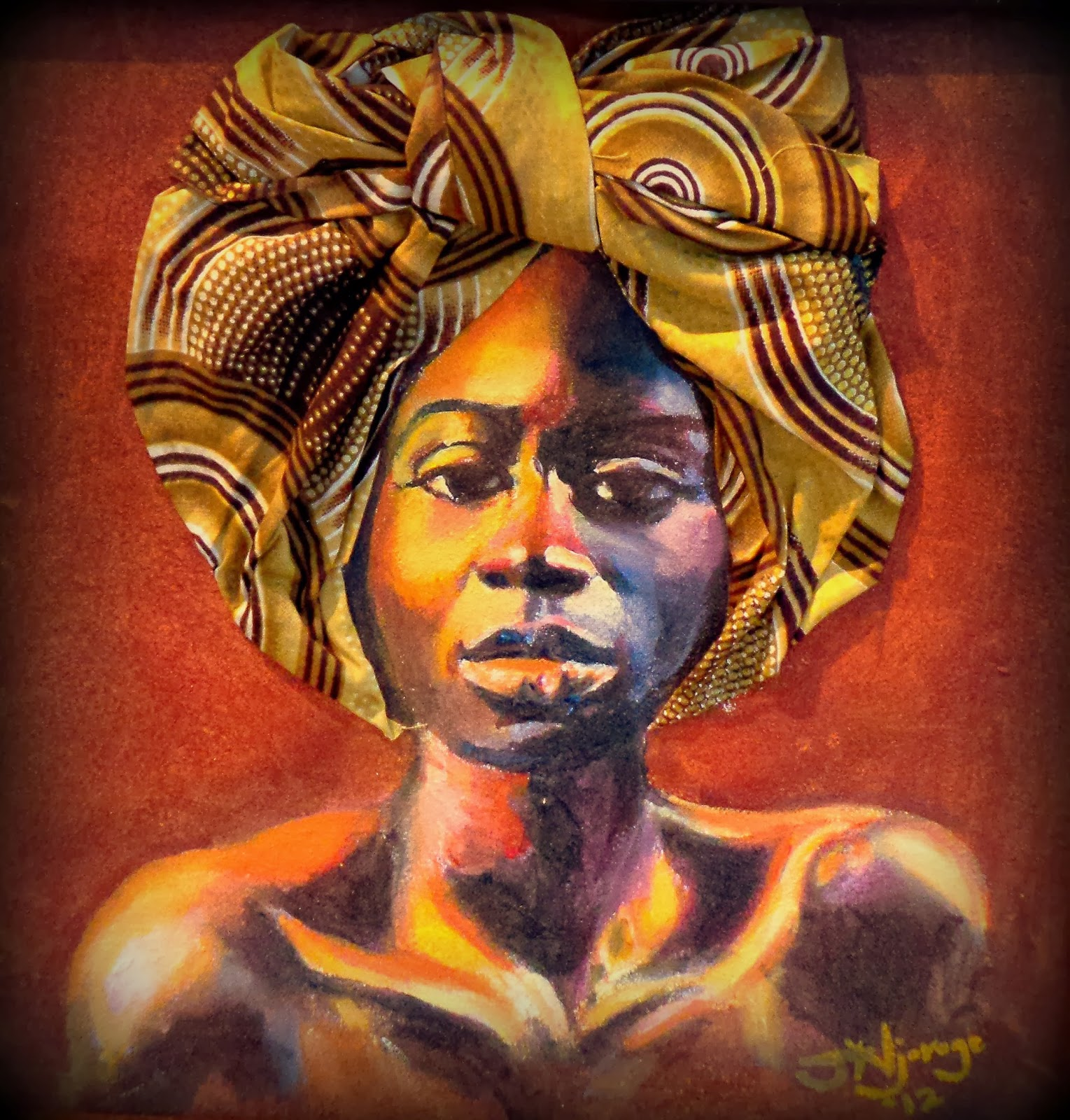 It is a picture of Challenger Afro Woman Drawing