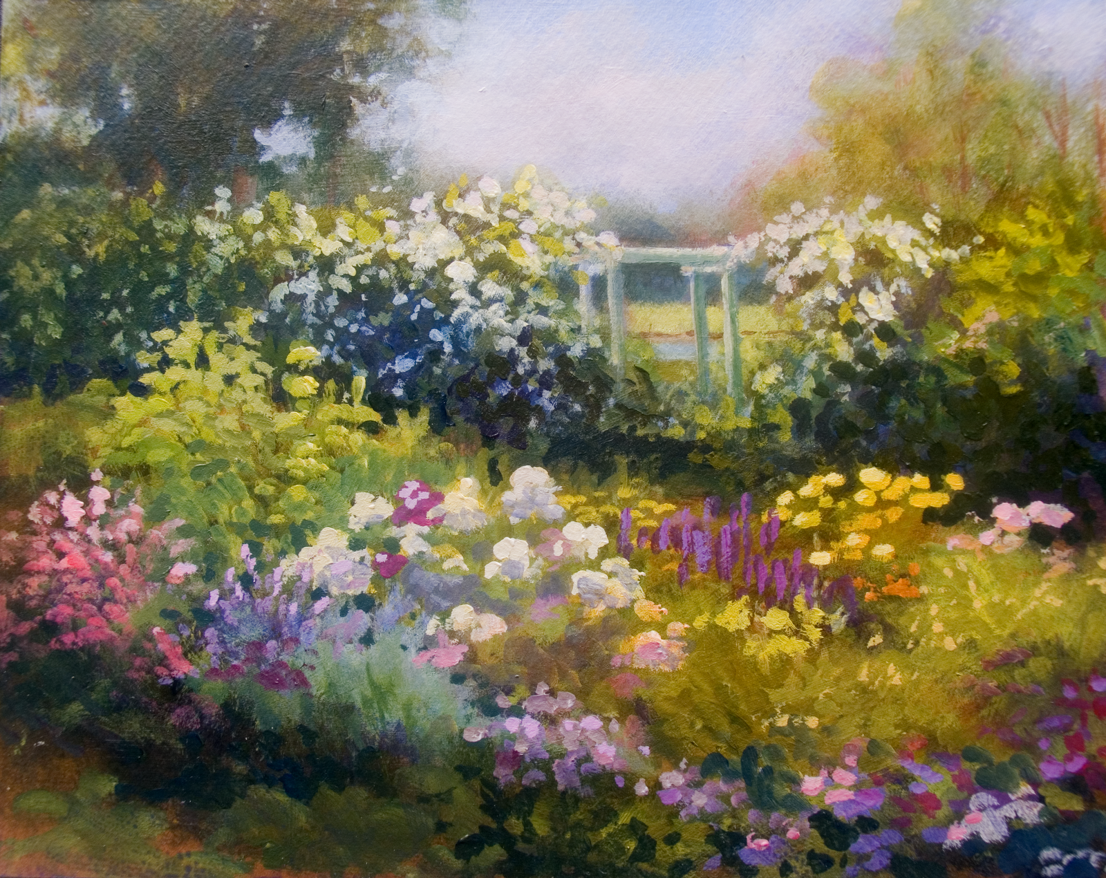 Spring landscape paintings for Spring canvas paintings