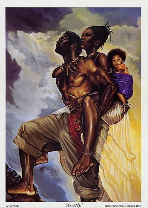 Black Family paintings