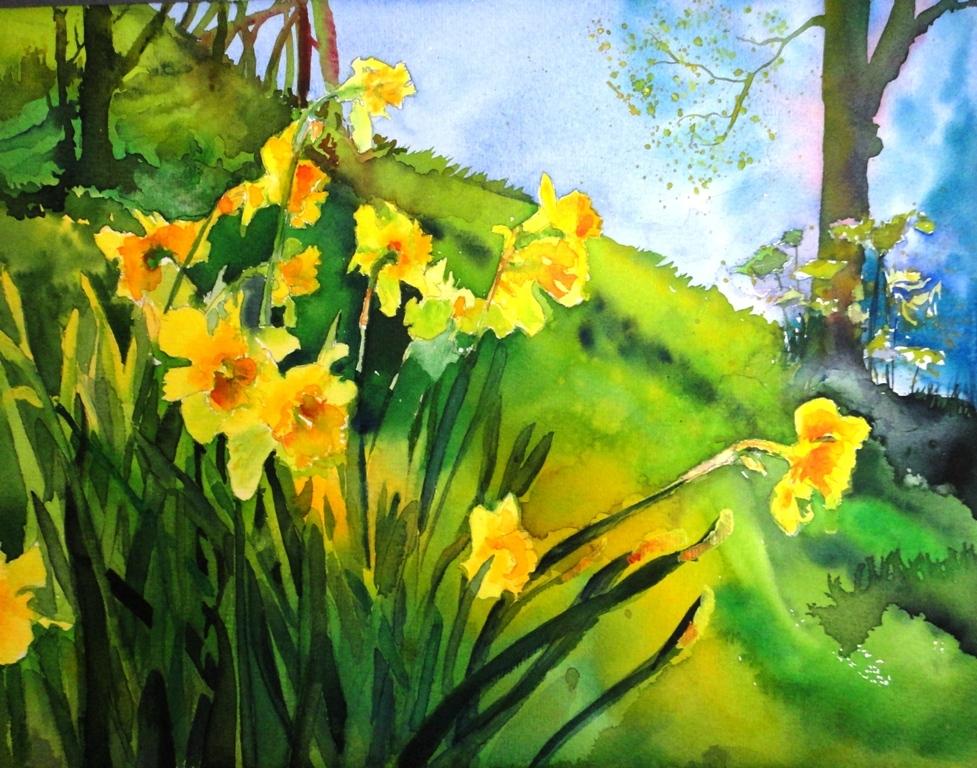 spring flower paintings
