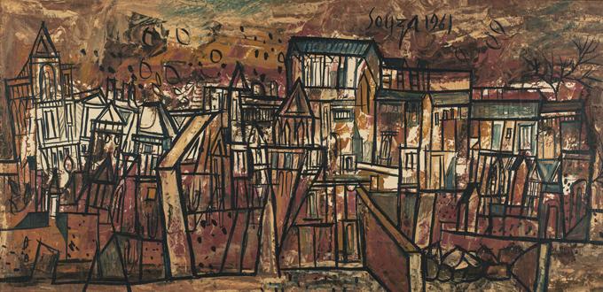 five painting of francis newton souzan the bombay saga