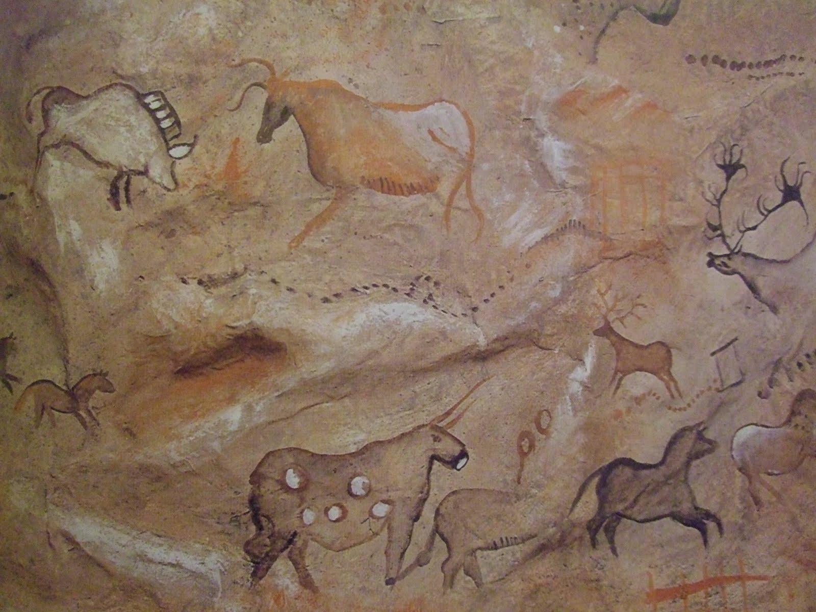 наскальная живопись первобытных людей картинки охота или