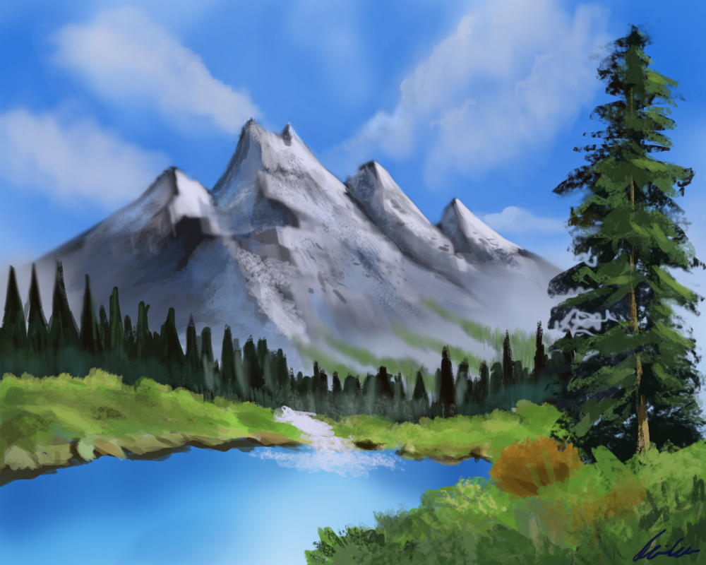 Easy Mountain Painting Ideas