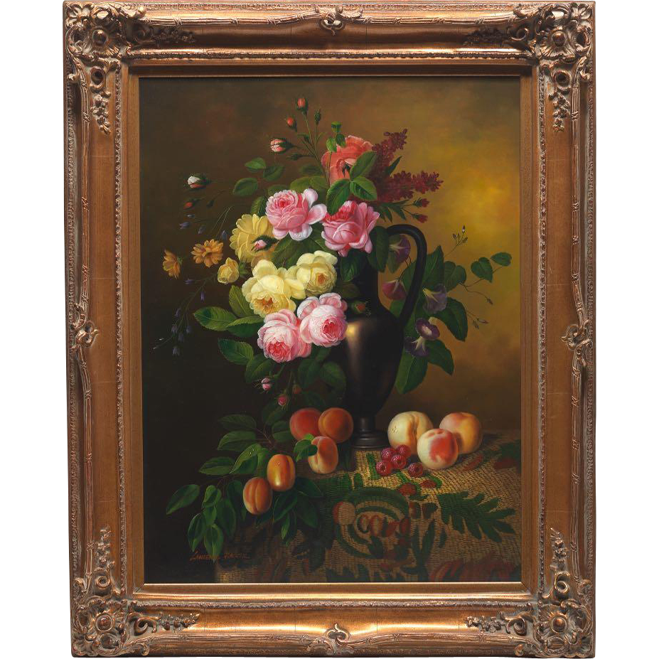 Antique Rose Oil Paintings
