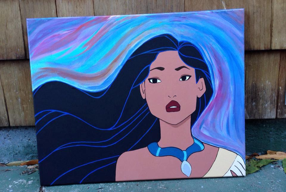 Disney Princess Canvas Paintings