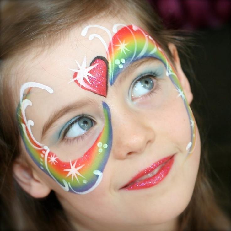 Rainbow Face Paintings