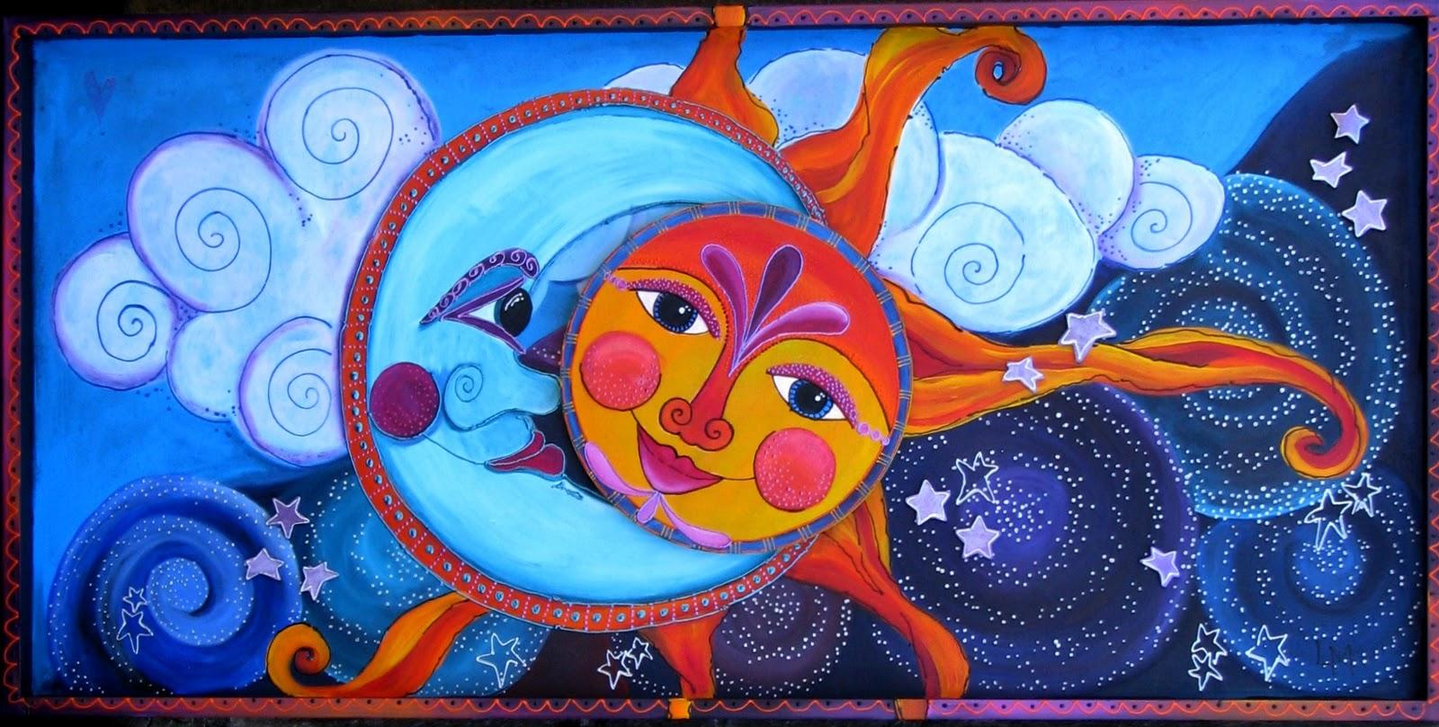 Sun Moon Paintings