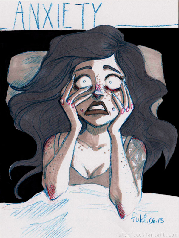 Anxiety paintings