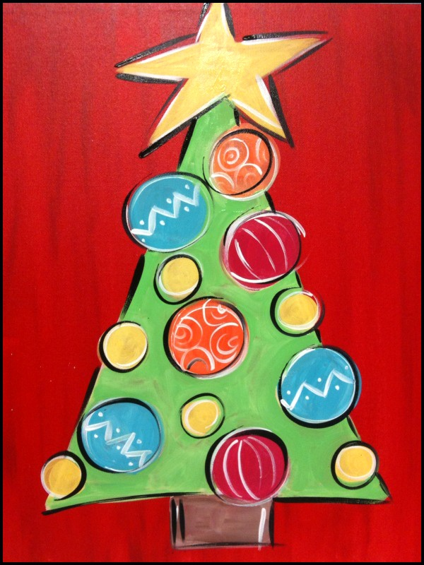 Christmas Paintings For Kids.Christmas Canvas Paintings