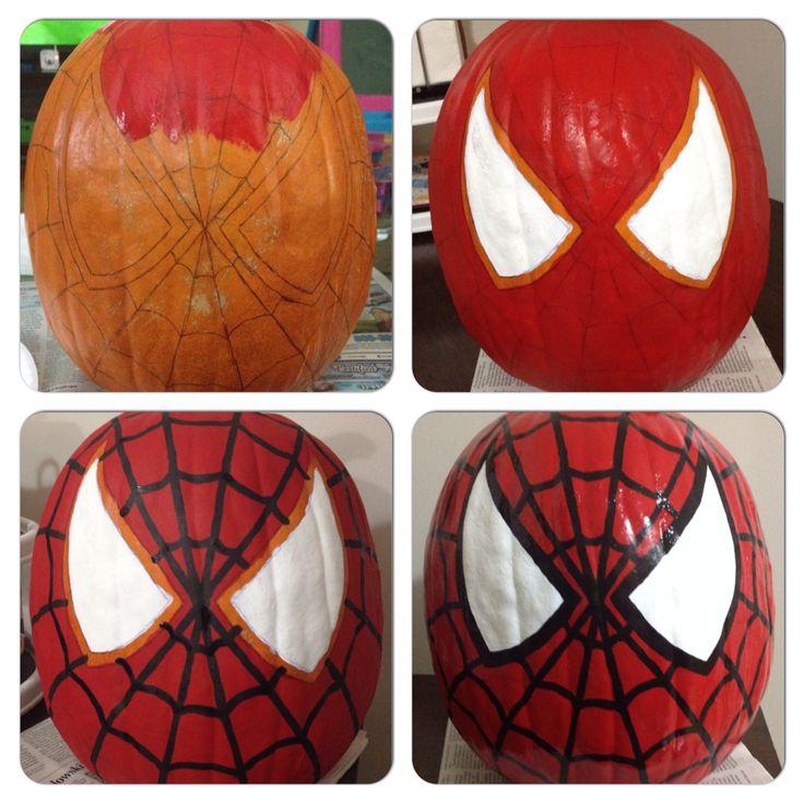 Spiderman Pumpkin paintings
