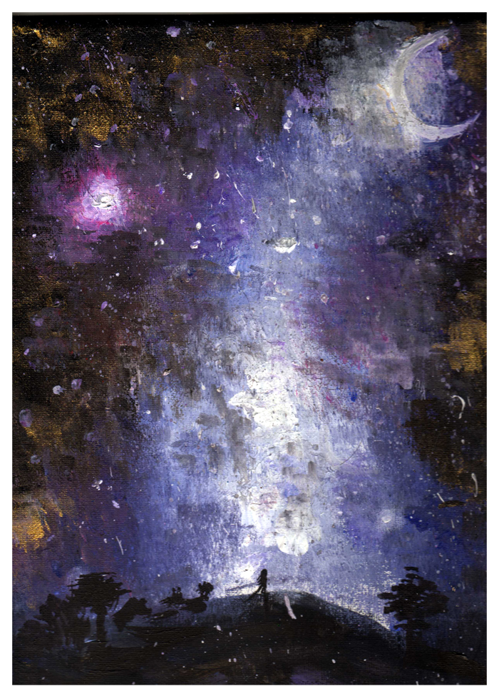 Acrylic Painting Of Galaxy Best 2018