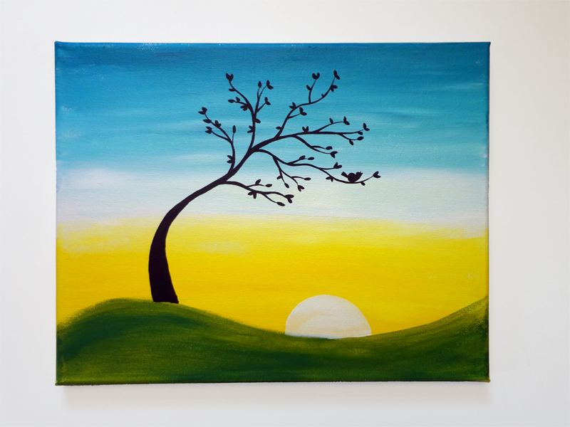 Acrylic Painting Design Ideal Vista Co