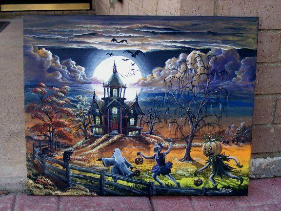 Halloween Watercolor Paintings