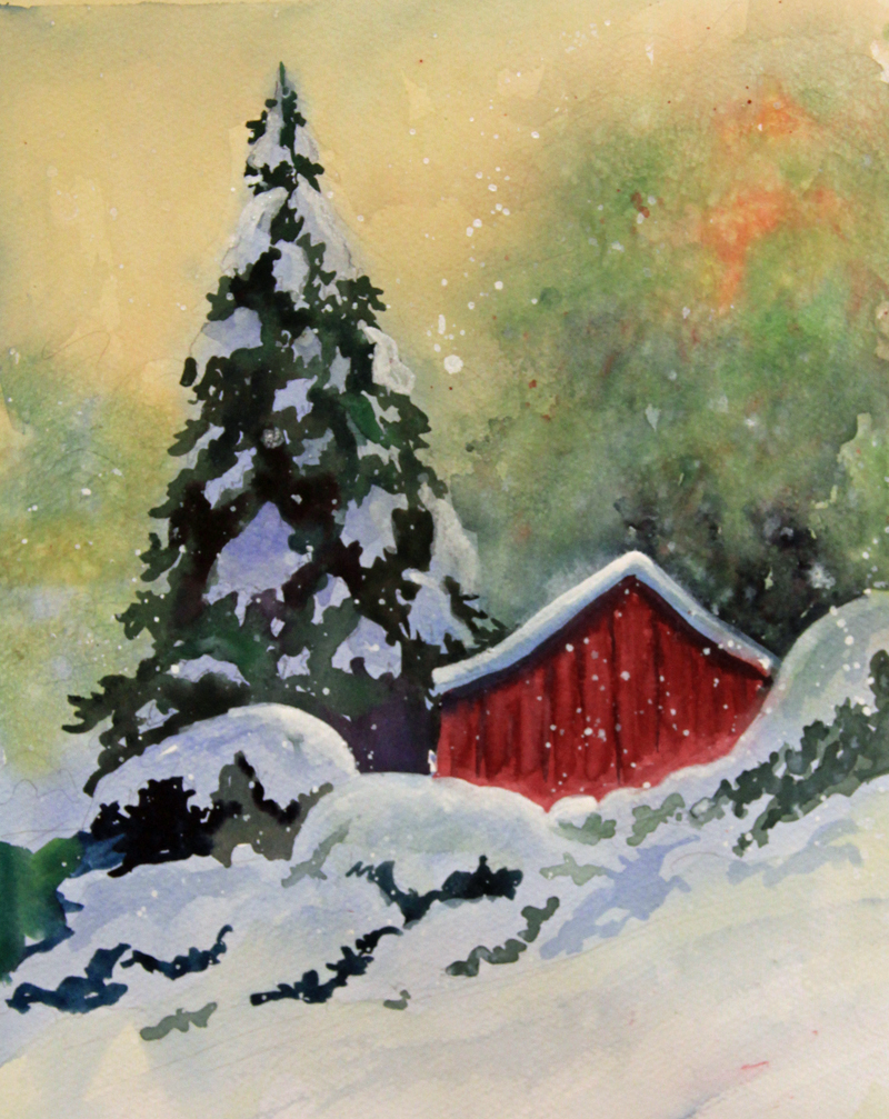 Easy Winter Kids Crafts That Anyone Can Make: Easy Winter Paintings