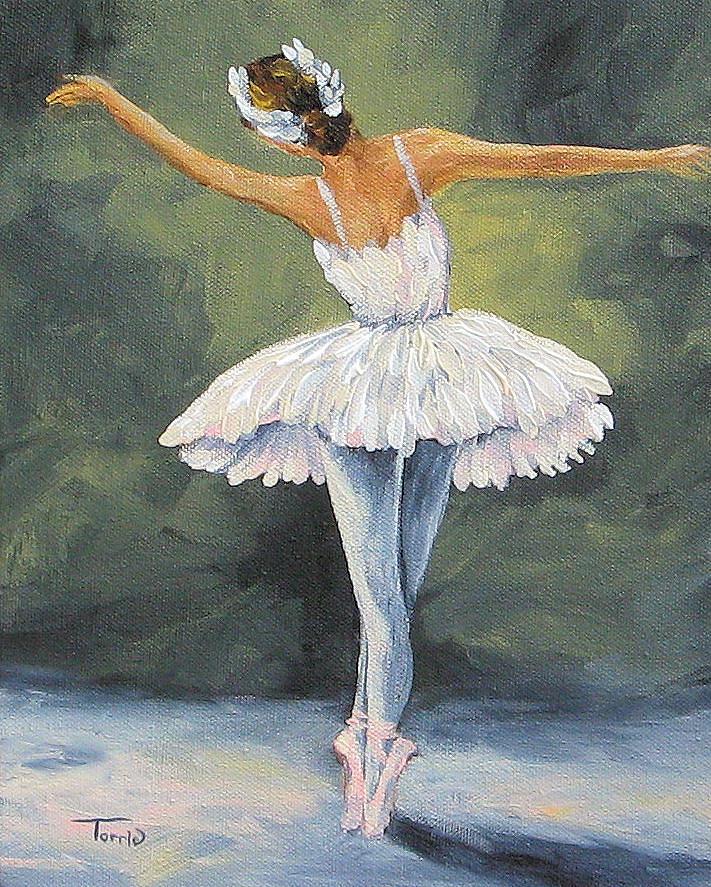 картинки на которых нарисована балерина краской чертой растения