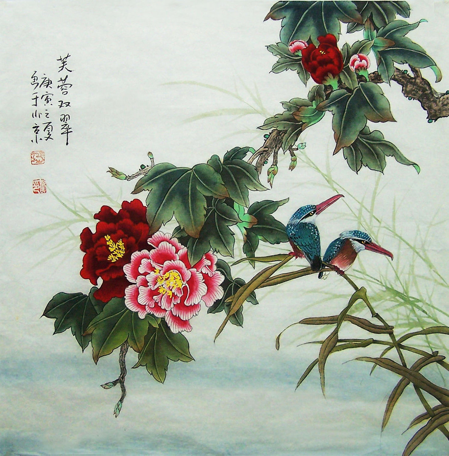 Oriental paintings for Immagini quadri fiori