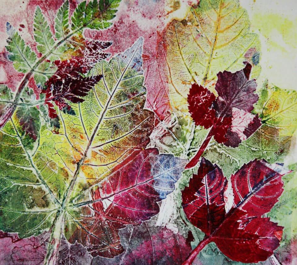 Leaf Print paintings