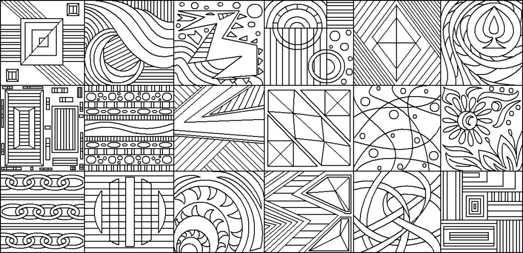 Abstract Line Paintings