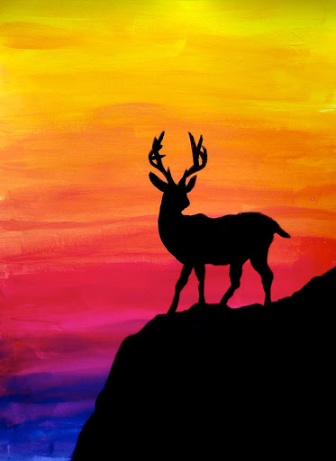 silhouettes paintings