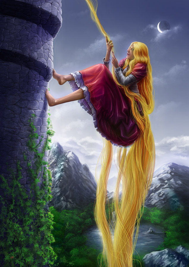 Rapunzel paintings