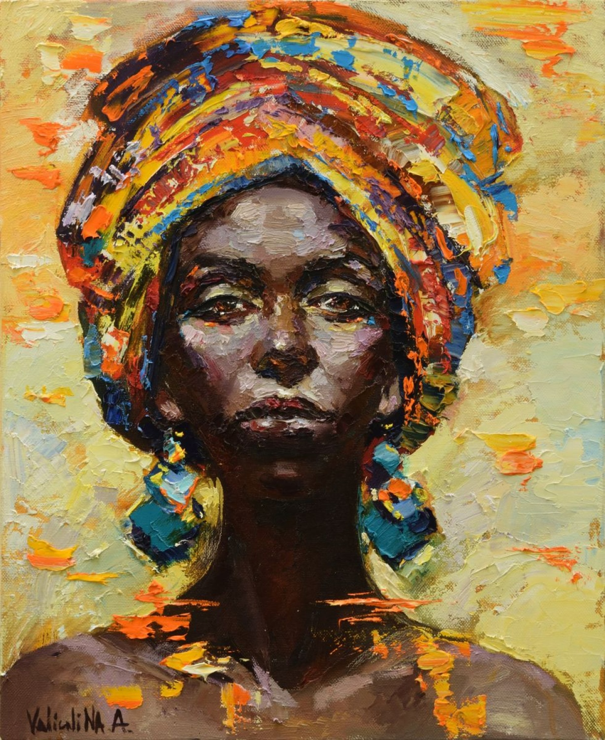 African Portraits paintings