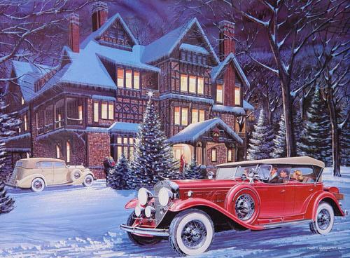 classic christmas paintings - Classic Christmas