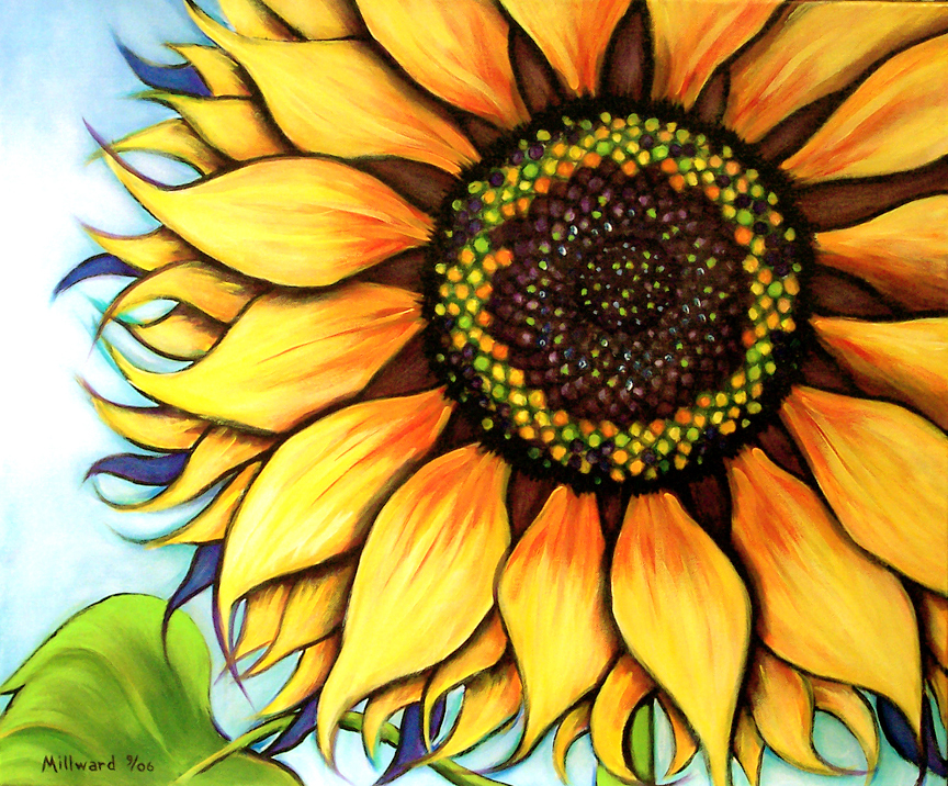 Easy Sunflower Paintings