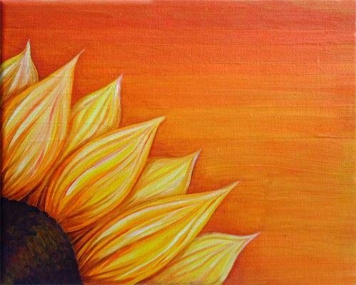 Easy Sunflower Paintings