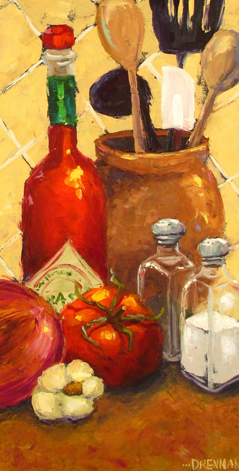 Kitchen oil paintings