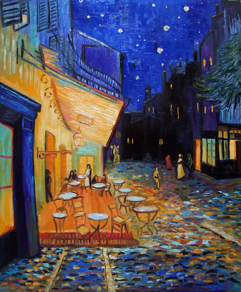 картина ван гога ночная терраса кафе альбом, него