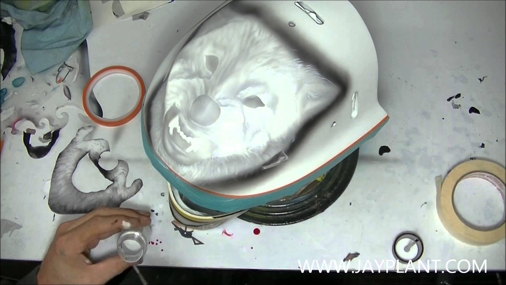 Goalie helmet paintings maxwellsz