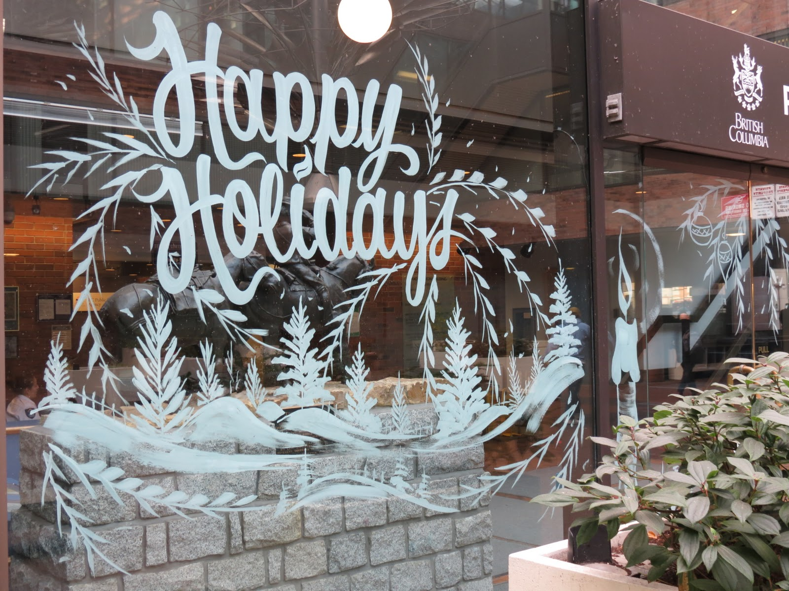 Christmas Window Paintings