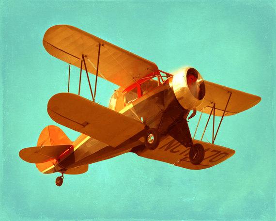 Vintage Airplane paintings