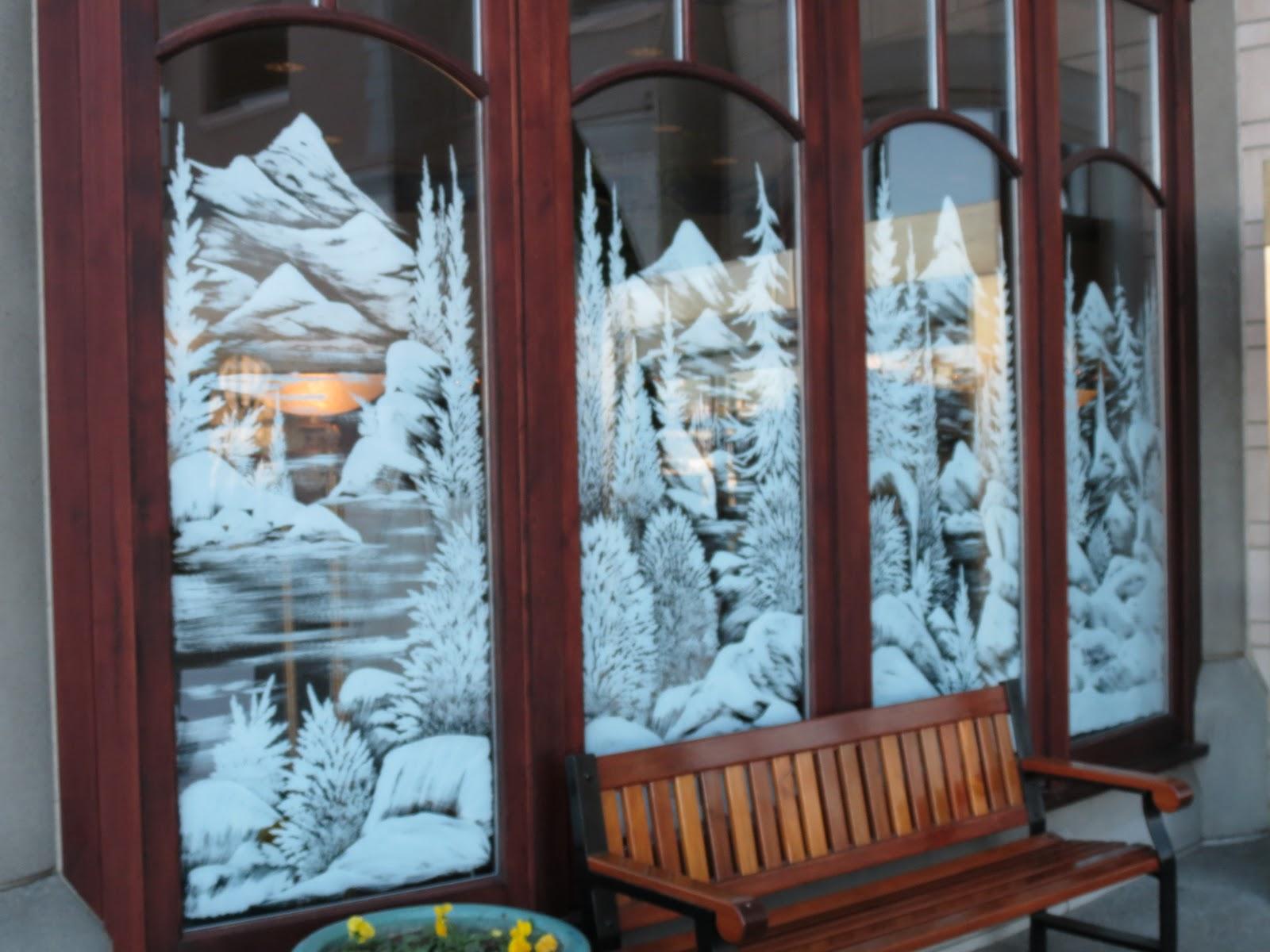 Seasonal Storefront Window Art By >> Window Paintings