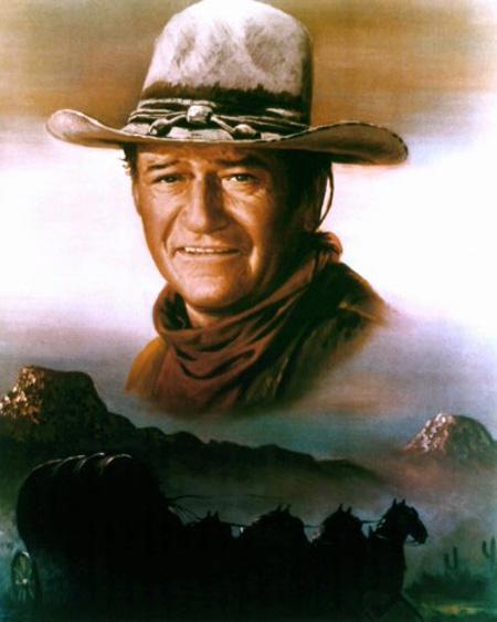 Painting John Wayne Art